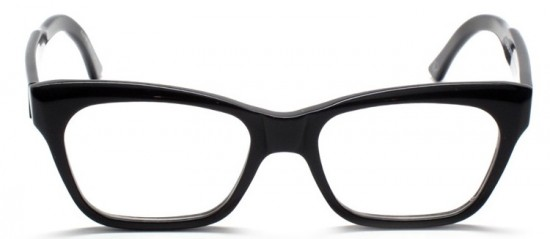 Silver Lining Opticians, own label. Model Helium in black gloss