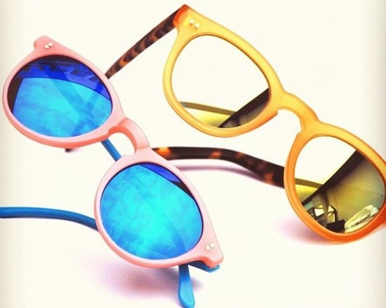 Custom gold and blue mirroring with @muratoptik for RVS by V. Eyewear models Morro and Naomi