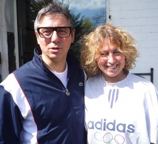 Pascal Jaulent with his Pilates coach Sandra Giancolla