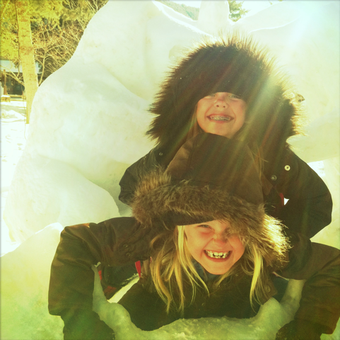 Shane's daughters enjoy the snow at Jckson Hole Wyoming