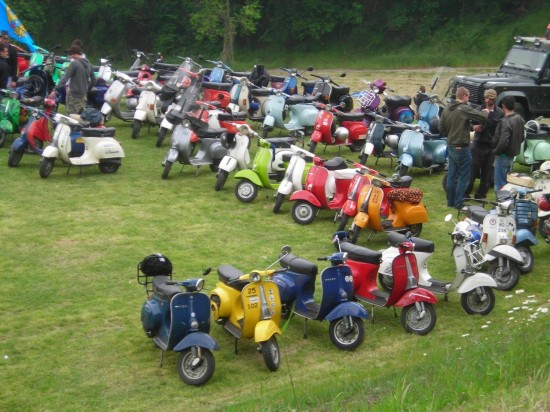 Vespa Variations! Ready to Roll in Bologna Italy