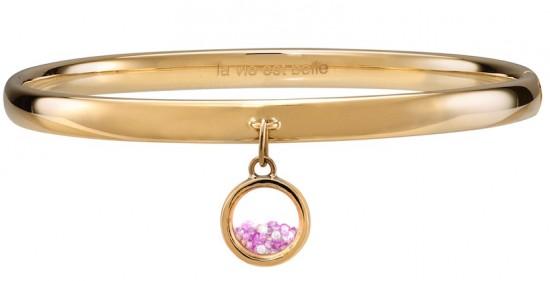 18K gold, Pink Sapphire and Diamond bracelet by CVS