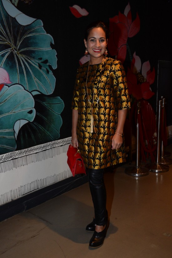 Caroline Abram at Createurs d'Opta 40th Anniversary celebration