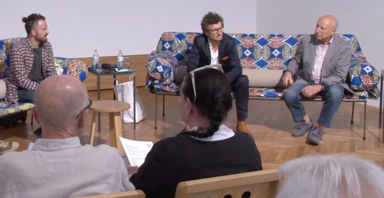 Christian Wolf, Christoph Egger and Robert La Roche at the MAK Forum Vienna