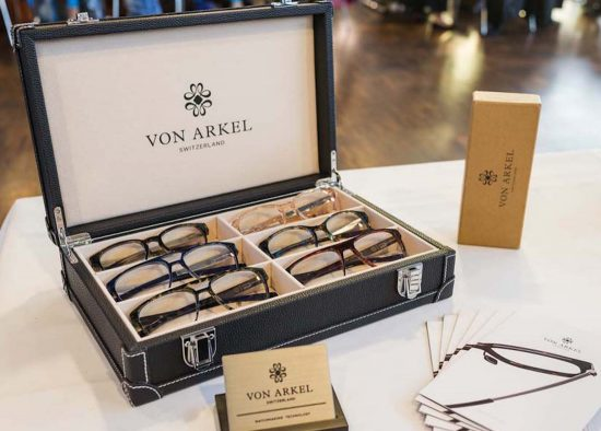 Silmo d'Or nominee Von Arkel from Switzerland display their elegant frames