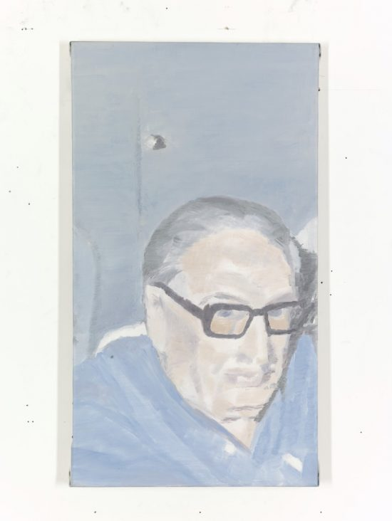 Portrait Old Man by Luc Tuymans, 2000; Private Collection Antwerp
