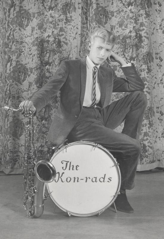 Early days - David Bowie in1963 with the band Kon-rads