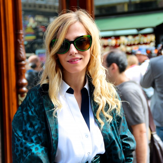 Dana Rogoz in Christian Roth, Paris Fashion Week