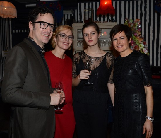 Etienne Fredriks, Susanne Klemm, Elien Weytjens, Belgium trainee at Les Créateurs d'Opta, Celia Kemedji Opta optician