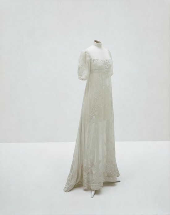 Dress in Mousseline cotton worn by Empress Joséphine about 1805