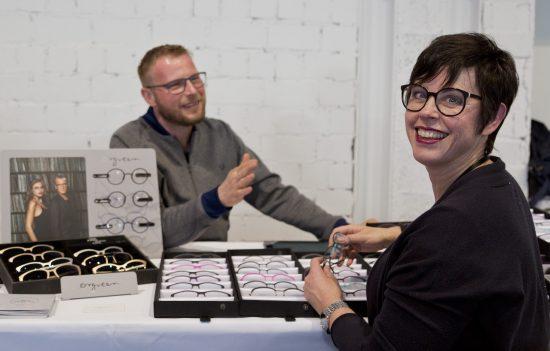 Karin Stehr from Bellevue Boutique in Hamburg views the Orgreen Collection with Jörn Viegelahn