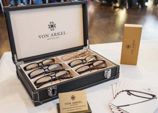 Silmo d'Or nominee Von Arkel from Switzerland display their elegant frames