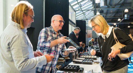 Patrik Jakobsen and Rainer Pawollek present the new Orgreen collection at Die Brillenmesse Stuttgart