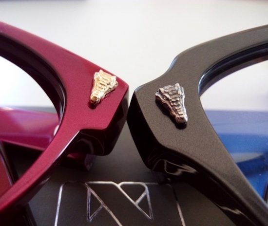 New additions to Kirk & Kirk's animal kingdom: Alligator handcrafted pin on Vivarium frames