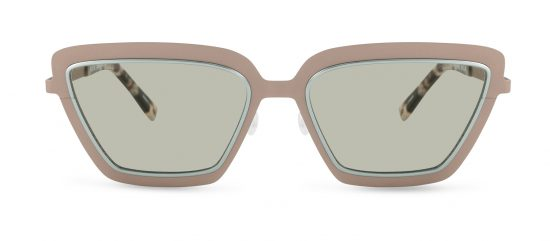 a57a671746d Utopia by Fleye Copenhagen in Matte Rose Gold with Shiny Powder Green
