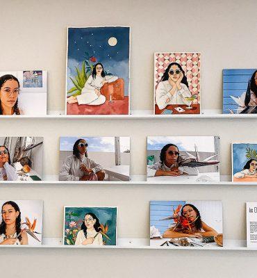 Art in store: Les Belles Lunettes, Réunion